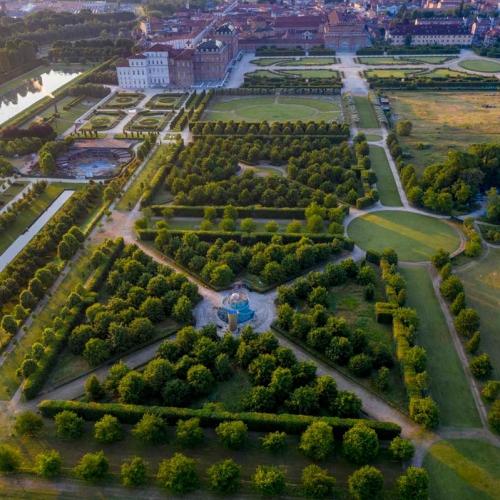Veduta aerea dei Giardini della Reggia di Venaria - Foto di Dario Fusaro