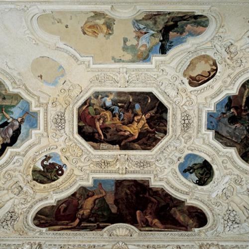 Volta della Sala delle cacce infernali. Reggia di Venaria, anticamera dell'appartamento della principessa Ludovica