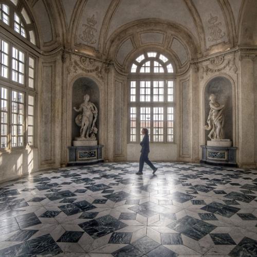 Rondo alfieriano con le Statue delle Quattro Stagioni di Simone Martinez - Foto di Silvano La Porta